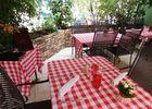 arc en barrois restaurant coq argent patio table.