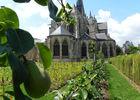 Jardins du chevet de la Trinité à Vendôme