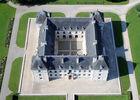 Château d'Ancy-le-Franc, vu du ciel