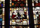 """Eglise Notre Dame, vitrail """"Vie de Saint Jean Baptiste"""""""