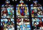 """Eglise Notre Dame d'Orbec, vitrail """"Arbre de Jessé"""""""