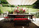 Delphine Zangs Chambre d'hôtes à Glos prés de Lisieux Salon de jardin