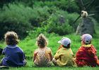 Enfants au zoo de Cerza près de Lisieux