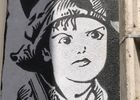 Street art Charlie Chaplin Montauban
