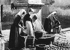 Le lavage de la laine à la fontaine de la place Conti