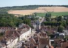 Villeneuve sur Yonne depuis la tour de l'église