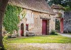 """Petite ferme appelée """"le pavillon"""" au XVIII e s. dans la cour intérieure du château côté Nord-Est"""