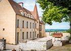 Château façade Nord composé d''un donjon XIIIe s. appelé Tour St François, d''un escalier à vis du XVe s. et d''un corps de logis XVIIIe s. agrandi par Claude Alexandre GAIGNARRE 2ème Baron de Joursanvault
