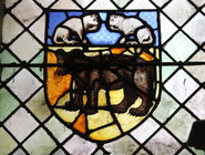 Blason de Chaource en vitrail - église St jean baptiste de Chaource.JPG