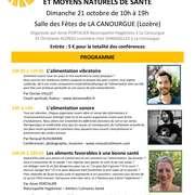 2ÈME JOURNÉE DE CONFÉRENCES SUR L'ALIMENTATION ET LES MOYENS NATURELS DE SANTE