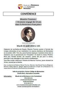 Conférence sur Maurice Tournou