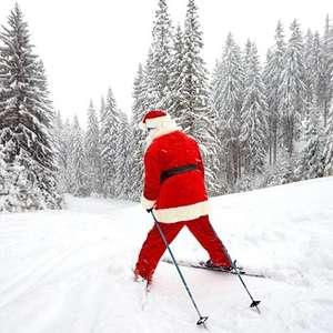 Le Père Noël fait du ski !