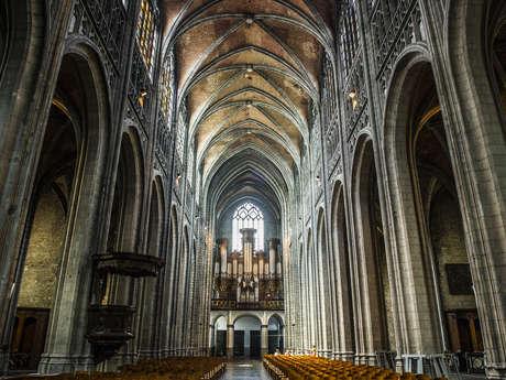 Visite-conférence « Orguez-vous » donnée par un des organistes de Sainte-Waudru