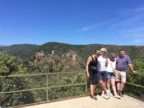 Excursion en minibus - 1/2 Journée - Châteaux de Lastours - Excursion privée - F/GB - Trésor Languedoc Tours