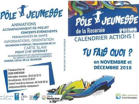 Pôle jeunesse de la Roseraie / Tu fais quoi en novembre et décembre?