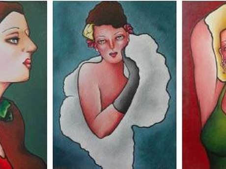 Mucha Influence : exposition de peintures de Sylvie Marty