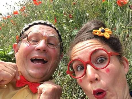 Basile et Babette à la ferme à La Chapelle St Martin