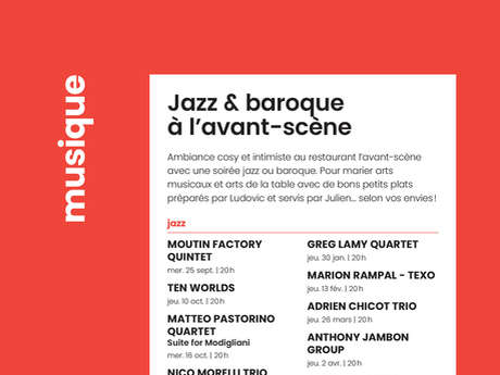 Jazz baroque à l'avant-scène