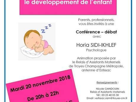 Conférence – débat « Les bienfaits du sommeil sur le développement de l'enfant »