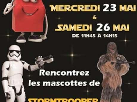Rencontrez Stormtrooper et Chewbacca à Mc Donald's