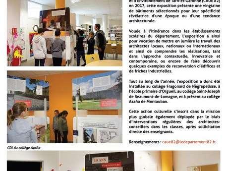 Exhibition / 40 ans d'Architecture en Tarn-et-Garonne, 1977/2017