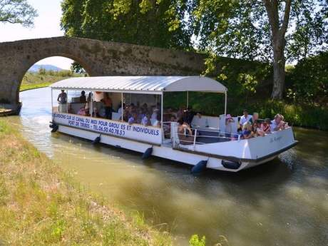 Guided cruises on the Canal du Midi - boat Le Cocagne - 1h15 or 2h - French, English, Spanish