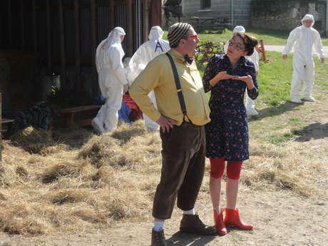 Basile et Babette à la ferme à Muides
