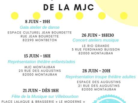 "End of year festivities of the ""Maison des Jeunes et de la Culture"" - MJC"