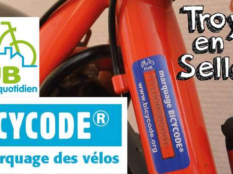 Marquage Bicycode - Atelier Vélo Solidaire des Viennes