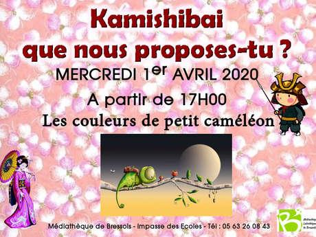 Kamishibaï : les couleurs de petit caméléon