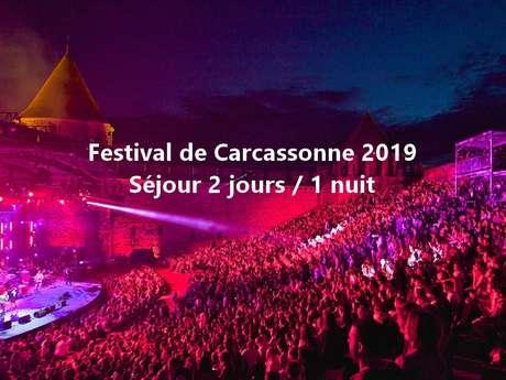 Festival de Carcassonne 2019 - Offre Dîner et spectacle