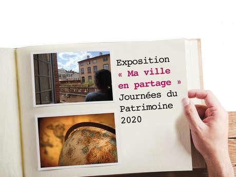 """Exposition """"Ma ville en partage"""" Journées du Patrimoine 2020"""