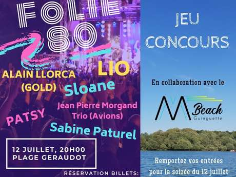 Jeu-Concours Facebook - Soirée Folie 80