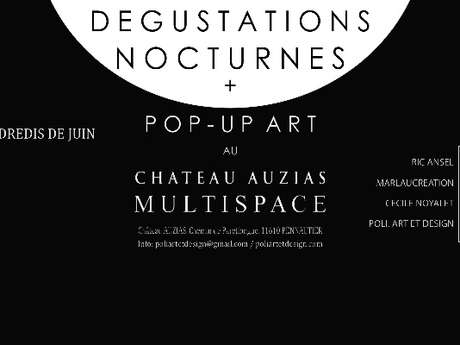 DÉGUSTATION NOCTURNE & POP-UP ART