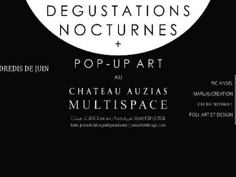 DÉGUSTATION NOCTURNE & POP-UP ART