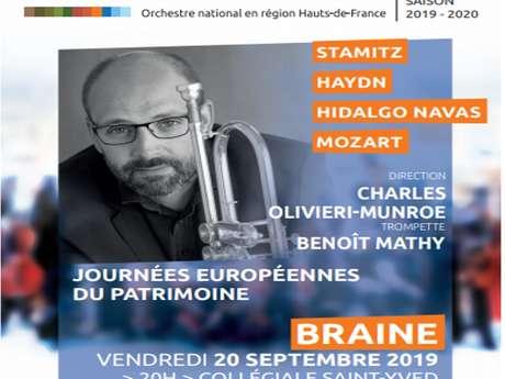 Journées Européennes du Patrimoine à Braine avec l'orchestre de Picardie