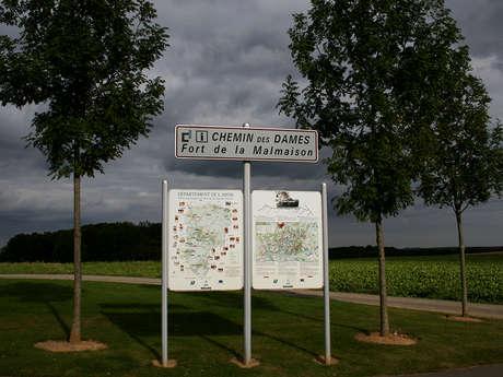 Le site du Fort de la Malmaison sur le Chemin des Dames