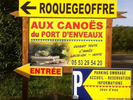 Aux Canoës Roquegeoffre du Port d'Enveaux