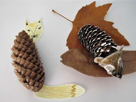Atelier enfants - Création d'animaux à partir d'éléments naturels