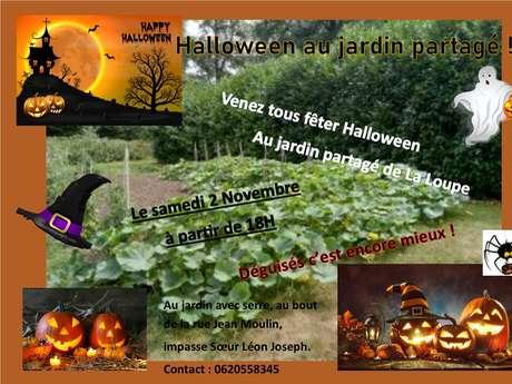 Halloween au jardin partagé