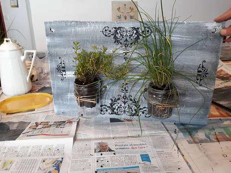 Atelier - Création d'un cadre végétal en bois