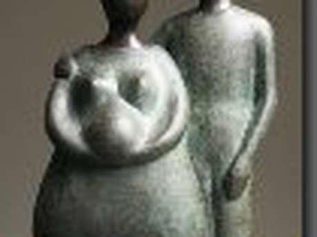 Stage sculpture -Patines sur terre cuite - Brigitte Maignan Cricks