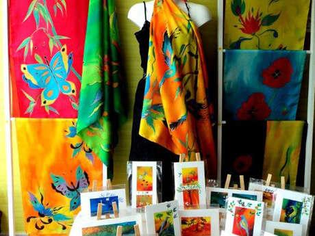 Expo-vente de soies peintes et de bijoux