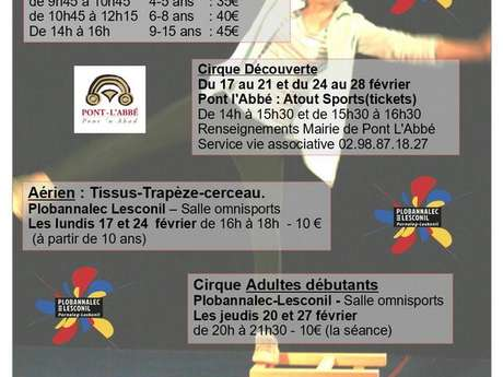 Stages de cirque