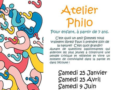 Atelier philo pour enfant à la librairie Mots et Images