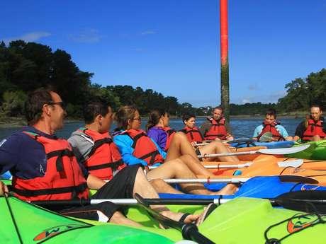 Balade en kayak sur la rivière de Pont-l'Abbé.