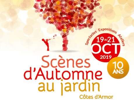 Scènes d'Automne au jardin : jardin Le Miroir - spectacle : Les Polyamide Sisters - premier cirque de camping