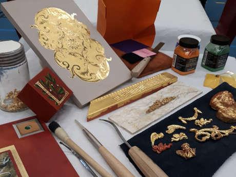 Atelier déco à théme : découverte de la technique de la dorure à la feuille