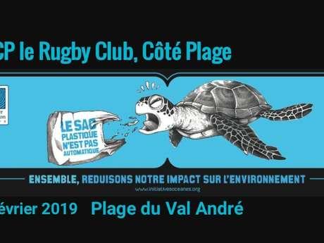 Opération Plage Propre avec le Rugby Club Côte de Penthièvre