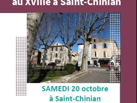 VISITE ET CONFERENCE : JANOT, MAITRE TEINTURIER AU XVIII A SAINT-CHINIAN